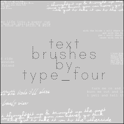 text brushes by type_four by withmycamera