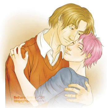 Lupin and Tonks by trojan-rabbit