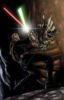 yoda vs tyranus by deemonproductions