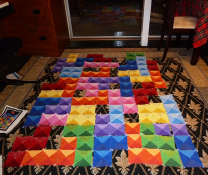 Tetris Quilt - In the Process by Bella-Aurora