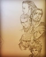 Patreon Sketch Request -- FF7 Turks by The-Z
