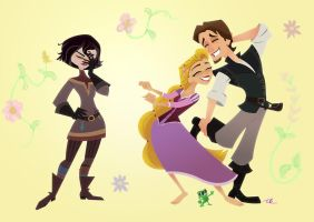 Rapunzel Dance Party by JodeOnslow