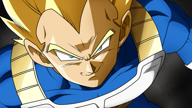 VEGETA SSJ by lucario-strike