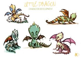 Little Dragon Character design by Stella-di-A