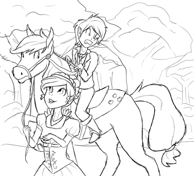 Gift: Alex rides a pony by Pegasisart