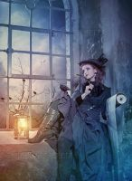 The Writer in the Window by Euselia