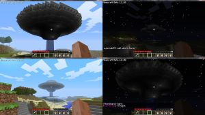 Minecraft UFO Exterior by Thorbears