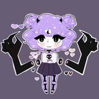 Pastel Goth Adoptable ( Auction - Closed) by Sheytann