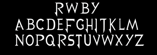 RWBY Font by Lightning-in-my-Hand