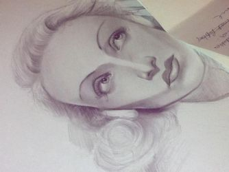 Marlene Dietrich WIP 1 by LadyPakter4life