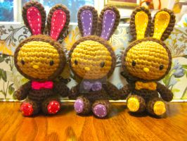Hello Kitty Easter Chocolate Bunny Amigurumi by Spudsstitches