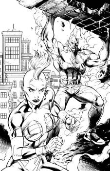 Savage Dragon and She-Dragon by JPR04