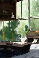 Architecture study by Juhupainting