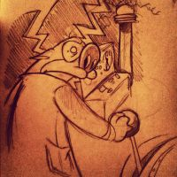 The Nefarious Dr. Stimpy by Miss-Interocitor