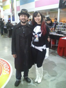 Me and Punisher girl by AlexeiRobles