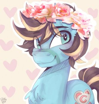 Chaos's Flower Crown by Drawing-Heart