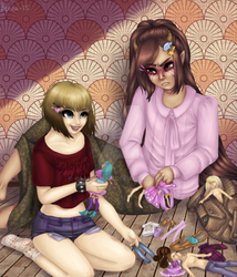 Playing with dolls by Haamulikka