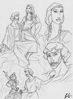 Moses and Tzipporah by giulal