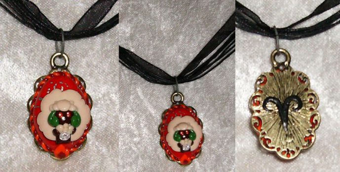 Whimsicott Aries Necklace by LaPetitLapearl