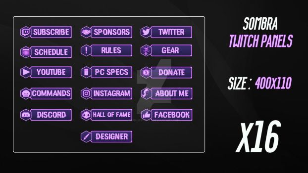 Sombra #2 - Twitch Panels by lol0verlay