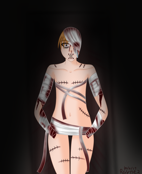 Goretober Day 2: Bloodied Bandages and Stitches by Rayne2