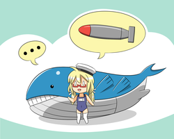 Hacchan and Wailord by LunarisFuryAileron