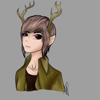 Deer Girl by NaNaLlama
