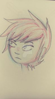 Another Colored Pencil Sketch by TheL3tterM