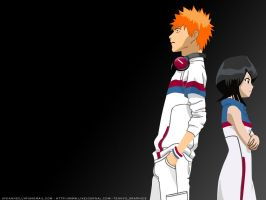 Ichigo and Rukia 2.0 - Grey by vivianneillyria