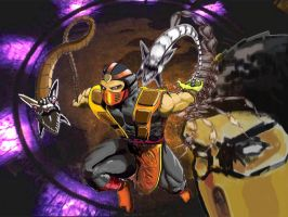 scorpion mortal kombat by intelteamer