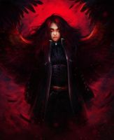 Raven Hold: Red snow storm by oione