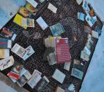 carpet with books