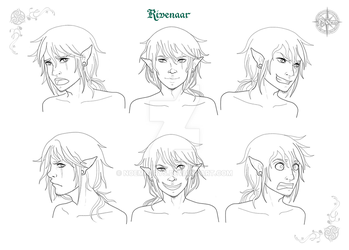 Rivenaar, Character Design Faces by Noemnerys