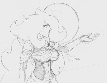 Queen Ra - Concept 3 (Waist-up) by CrowDeCorvidae
