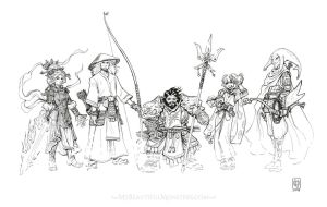 DnD Group Portrait Commission by MyBeautifulMonsters