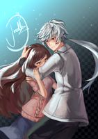 Mystic Messenger: Zen x MC by BunnyNyan