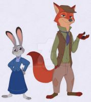 Zootopia - Victorian Style by Shadeink
