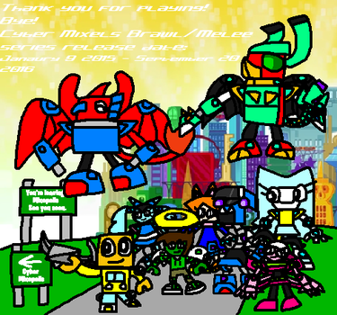 Cyber Mixels: Thank for Playing Cyber Mixels Games by Luqmandeviantart2000