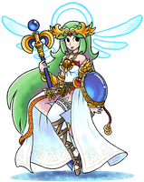 ''Mario+Luigi'' RPG Style: Palutena (Kid Icarus) by MAST3R-RAINB0W
