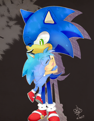 .:AT:. Monty and Sonic by LightDarkDreamer
