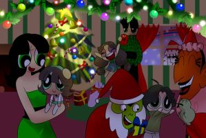 Butch and Butter Cup Family Christmas by sohjk12