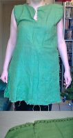 Green hand sewn tunic by Mutany