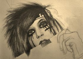 Another Andy Biersack WIP by brendachen