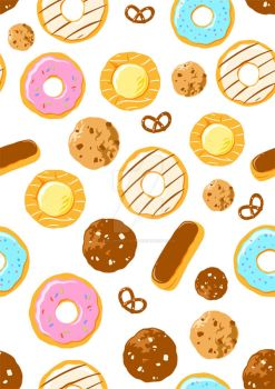 Donuts and Cookies by Imajinn-Design