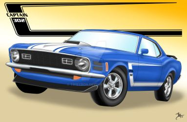 1970 Boss Mustang by TR1Byron