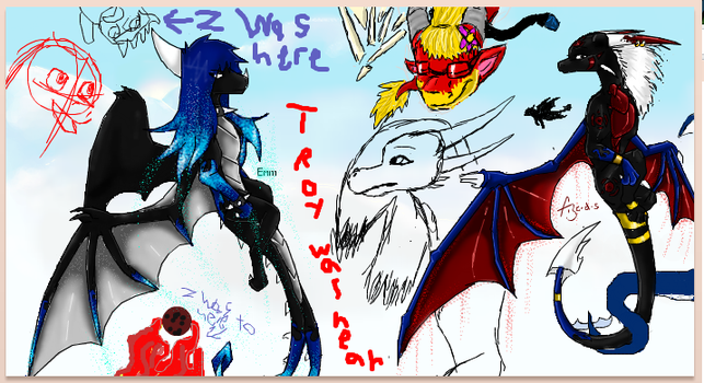 iscribble board dragons by Minerea