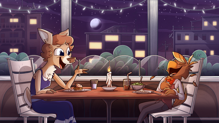 Fancy Dinner for Two by PiemationsArt