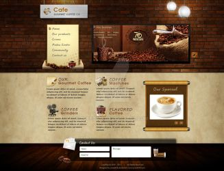 CafeBrands-Coffee Websites Exp by preet618