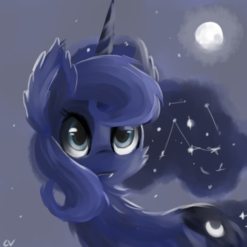 Wolf Luna? by CerebralVapor