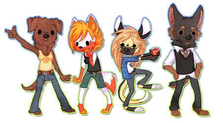 Chibi Group by griffsnuff